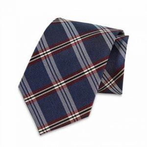 Krawatte Einstecktuch (Dunkelgrau-Lila gestreift)