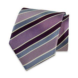 Seiden-Krawatte (Hellgrau – Gold gestreift)