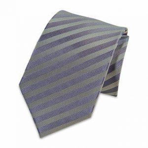 Seiden-Krawatte (Lila gestreift)