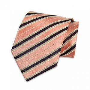 Seiden-Krawatte (Mintgrün - Blau gestreift)