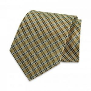 Seiden-Krawatte (beige-Scharz-Weiss kariert)Seiden-Krawatte (beige-Scharz-Weiss kariert)
