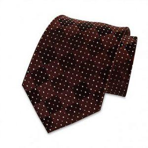Seiden-Krawatte (Weinrot gepunktet)